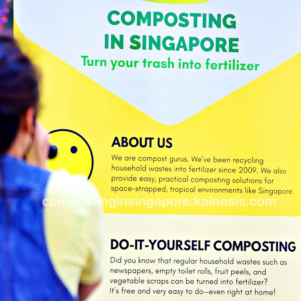 CIS' large compost banner on display