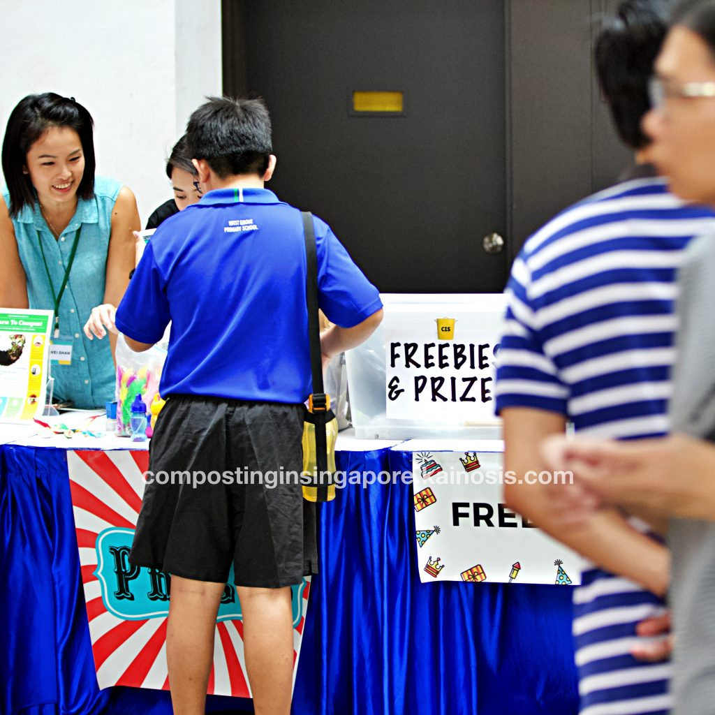 Our friendly facilitators at the freebies and prizes zone